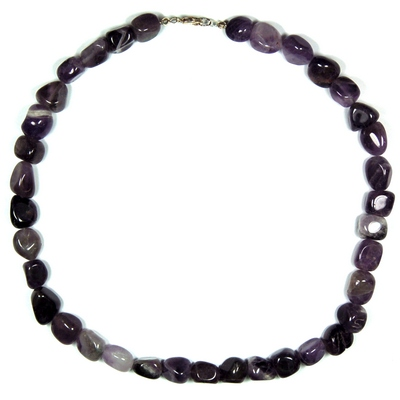 Necklaces - Amethyst Tumbled Nugget Necklace (China)