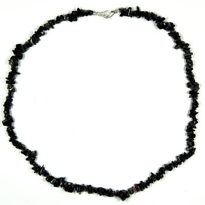 Discontinued - Black Onyx Tumbled Chips Necklace (India)