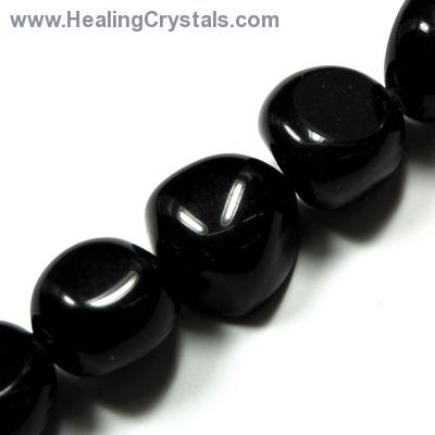 Necklaces - Black Onyx Tumbled Nugget Necklace (China)