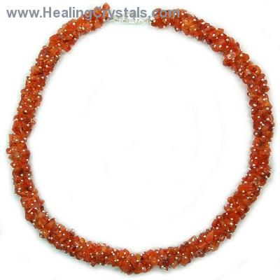 Necklaces - Carnelian Cluster Necklace (India)
