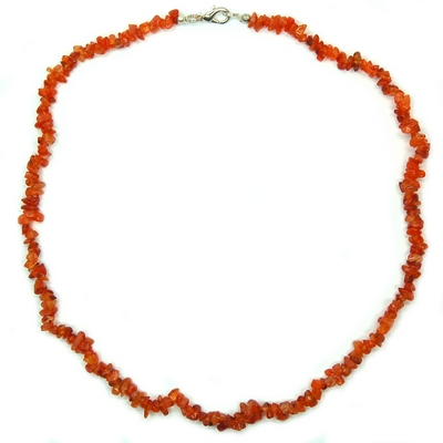 Necklaces - Carnelian Tumbled Chips Necklace (India)