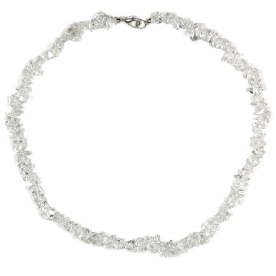 Necklaces - Clear Quartz Tumbled Chips Necklace (India)