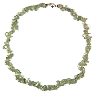 Necklaces - Green Amethyst Tumbled Chips Necklace (India)