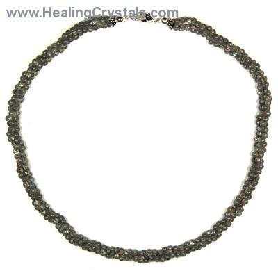Necklaces - Labradorite Twisted Rope Necklace (India)