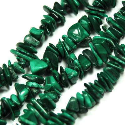 Necklaces - Malachite Tumbled Chips Necklace (India)