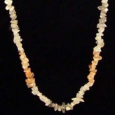 Crystal Necklaces - Moonstone Tumbled Chips Necklace