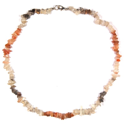 Necklaces - Moonstone Tumbled Chips Necklace (India)