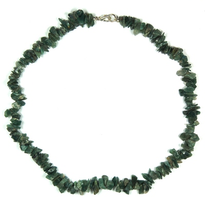 Necklaces - Moss Agate Tumbled Chips Necklace (India)