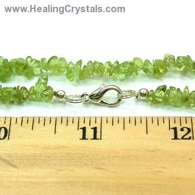 Necklaces - Peridot Tumbled Chips Necklace (India)