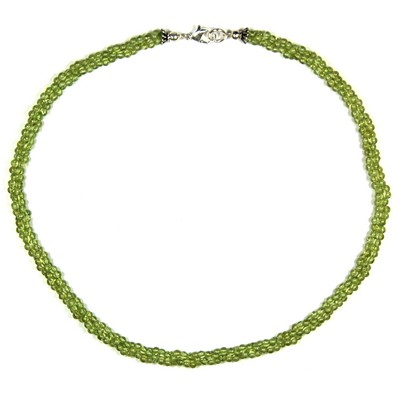 Necklaces - Peridot Twisted Rope Necklace (India)