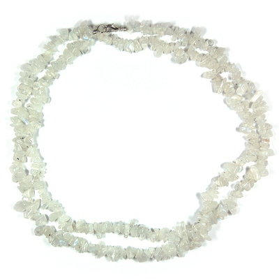 Necklaces - Rainbow Moonstone Tumbled Chips (India)