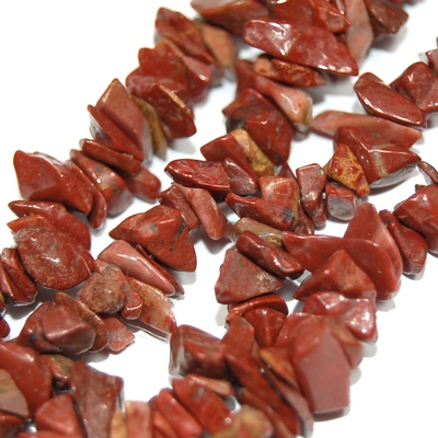 Necklaces - Red Jasper Tumbled Chips Necklace (South Africa)