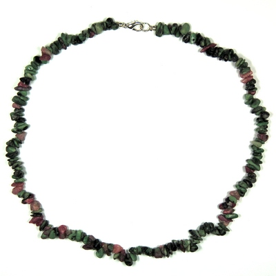 Necklaces - Ruby Zoisite Tumbled Chips Necklace (India)