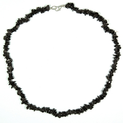 Necklaces - Smokey Quartz Tumbled Chips Necklace (India)