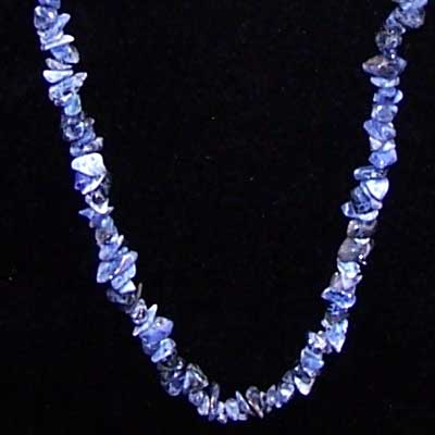 Crystal Necklaces - Sodalite Tumbled Chips Necklace