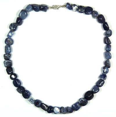 Necklaces - Sodalite Tumbled Nuggets Necklace (China)