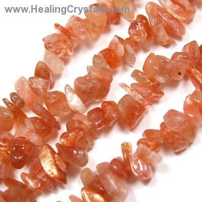 Necklaces - Sunstone Tumbled Chips Necklace - (India)- Sunstone