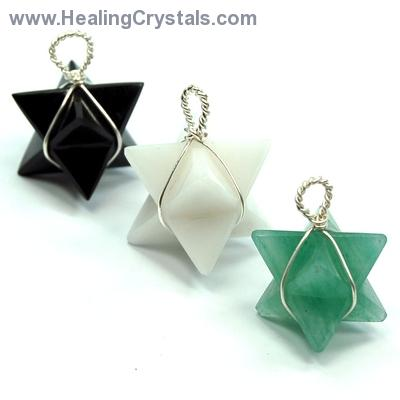 Pendants - Chakra Merkaba (Wrapped) Pendant Sets (India)