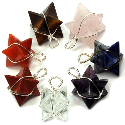 Wholesale - Chakra Wrapped Merkaba Pendant Sets (70pcs.)