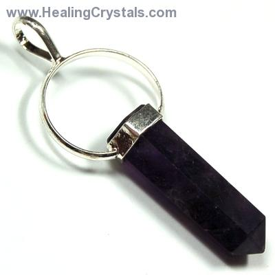Crystal Pendants - Amethyst Pencil Pendant photo 2