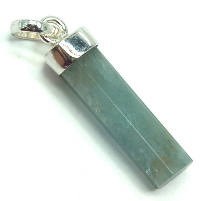 Pendants - Aquamarine Bar Pendant (Brazil)