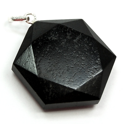 Black Agate Star of David Pendant (India)