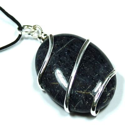 Pendants - Blue Aventurine Cabochon (Wrapped) Pendant (India)