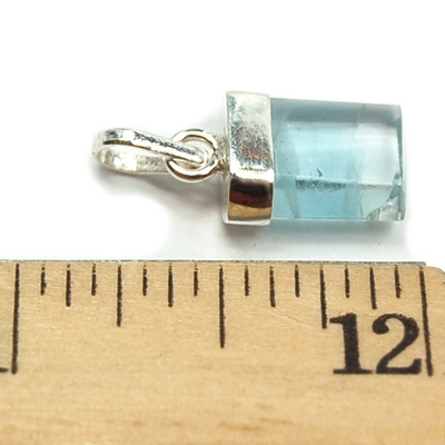 Pendants - Blue Topaz Bar Pendant (Brazil)