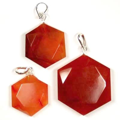 Pendants - Carnelian Star of David Pendant (India)