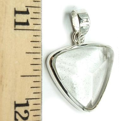 Pendants - Clear Quartz Faceted Triangle Pendant (India)