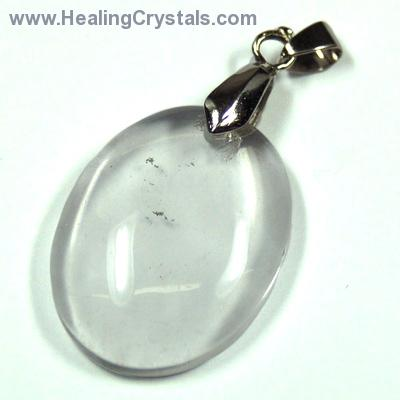 Crystal Pendants - Clear Quartz Oval Cabochon Pendant