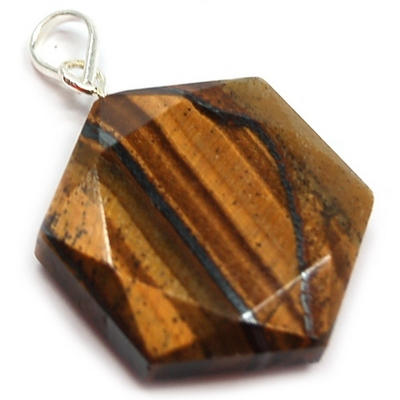 CLEARANCE - Golden Tiger Eye Star of David Pendant