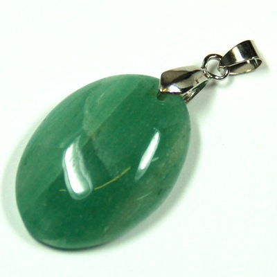 Aventurine Pendant Discontinued green aventurine oval cabochon pendant green discontinued green aventurine oval cabochon pendant green aventurine healing crystals audiocablefo