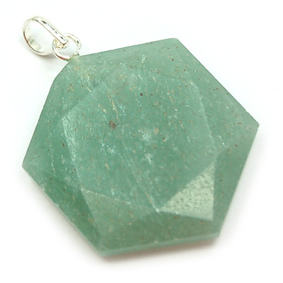 Green Aventurine Star of David Pendant