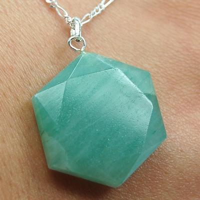 Green Aventurine Star of David Pendant