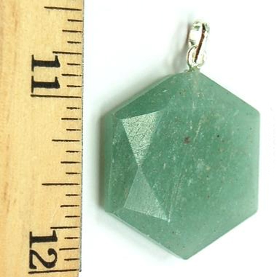 Pendants - Green Aventurine Star of David Pendant (India)