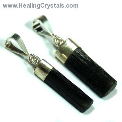 Crystal Pendants - Green Tourmaline Rod photo 2