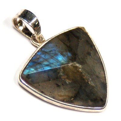Discontinued - Labradorite Faceted Triangle Pendant (India)