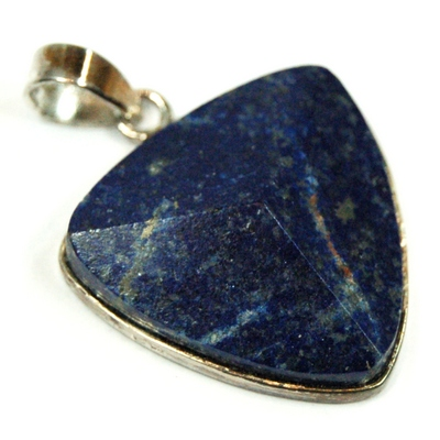 Discontinued - Lapis Lazuli Faceted Triangle Pendant (India)