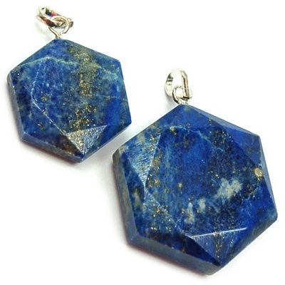 Pendants - Lapis Lazuli Star of David Pendant (India)