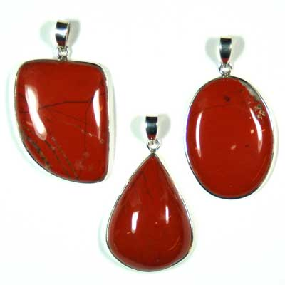 Red Jasper Cabochon Pendant - Free-Form (India)