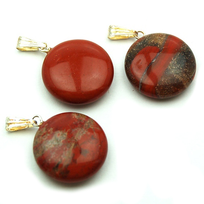 Discontinued - Brecciated Jasper Coin Pendant (China)