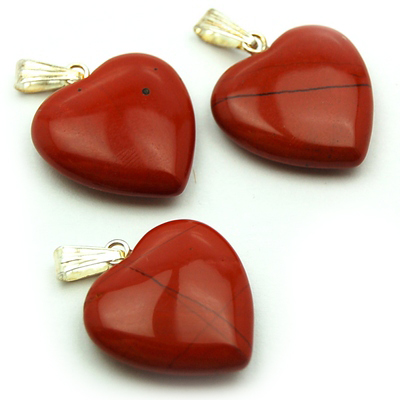 Pendants - Red Jasper Heart Pendant (China)