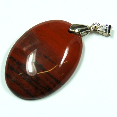 Crystal Pendants - Red Jasper Oval Cabochon Pendant