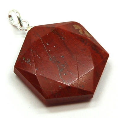 CLEARANCE - Red Jasper Star of David Pendant (India)