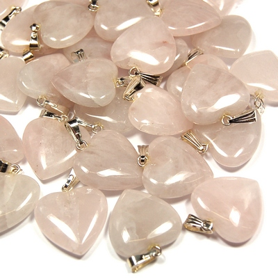 Crystal Pendants - Rose Quartz Heart photo 4