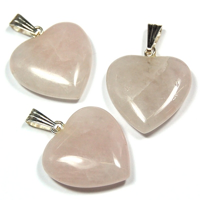 Crystal Pendants - Rose Quartz Heart photo 2