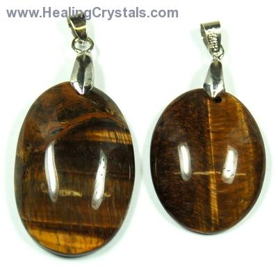 Pendants - Golden Tiger Eye Oval Cabochon Pendant (India)