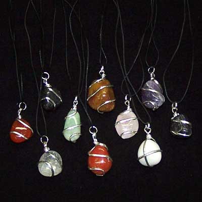 Crystal Pendants - Tumbled Pendant Assortment (Wrapped)