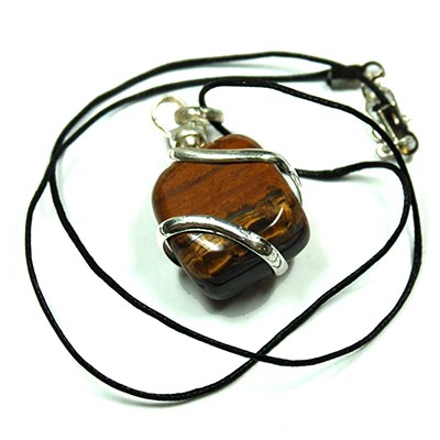Tumbled Golden Tiger Eye Necklace